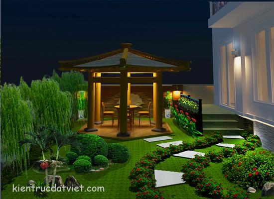 thiết kế cảnh quan biệt thự vincom village