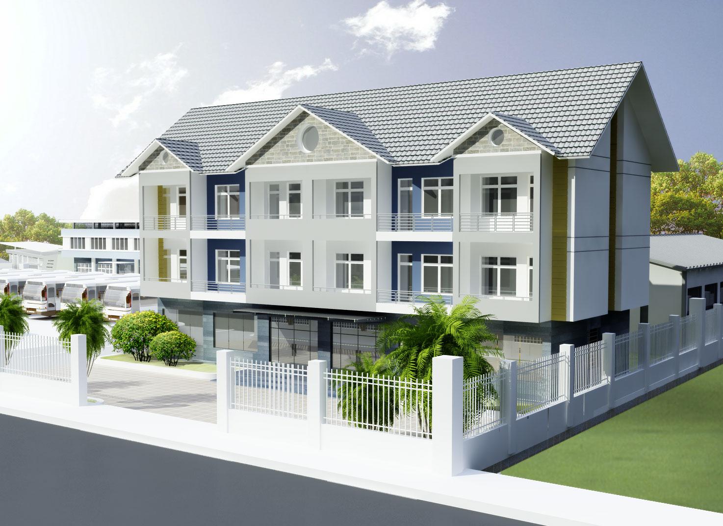 Thiết kế kiến trúc biệt thự phố, nội thất biệt thự phố