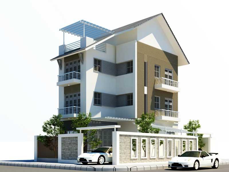 Thiết kế kiến trúc biệt thự vượn, nội thất biệt thự vườn