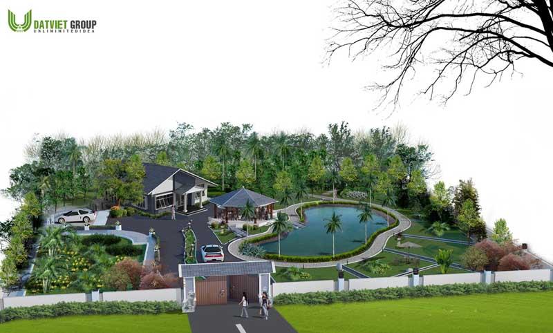 Tư vấn thiết kế kiến trúc biệt thự vườn - biệt thự vườn