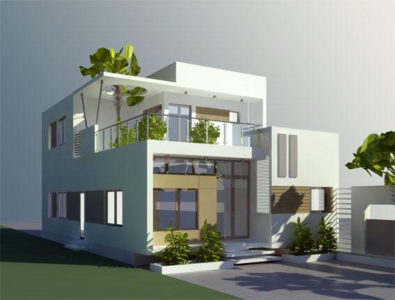 Thiết kế nhà dân - nhà hai tầng Hà Tĩnh